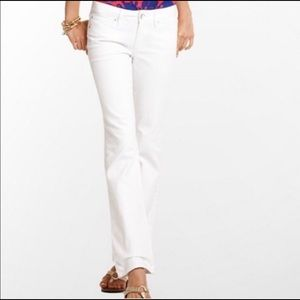 Lilly Pulitzer Palm Beach Fit Straight white jeans